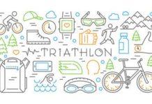 Matériel divers pour la pratique du triathlon