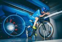Partick lange triathlon vélo chrono soufflerie